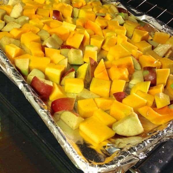 Roasted Squash and Apples - The Lemon Bowl