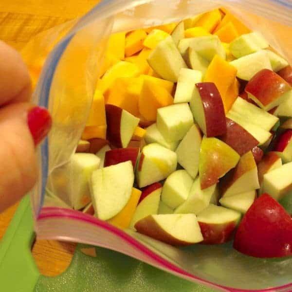 Squash and Apple Prep - The Lemon Bowl