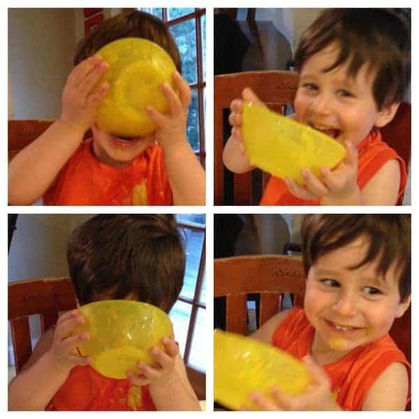 Toddler Eating Soup - The Lemon Bowl