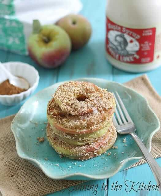 Baked Almond Apple Crisp Rings - Running to the Kitchen