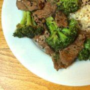 Beef and Broccoli - The Lemon Bowl