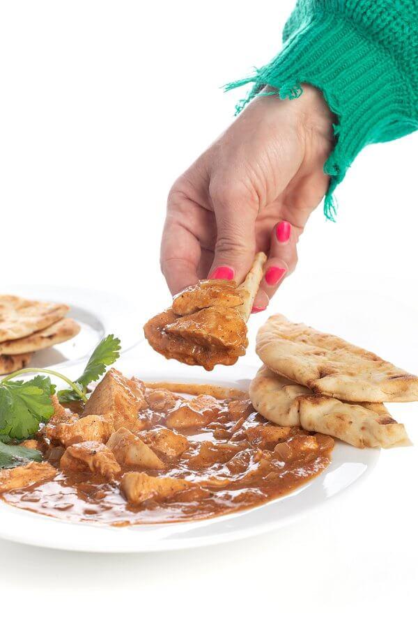 Chicken Tikka Masala with pita bread