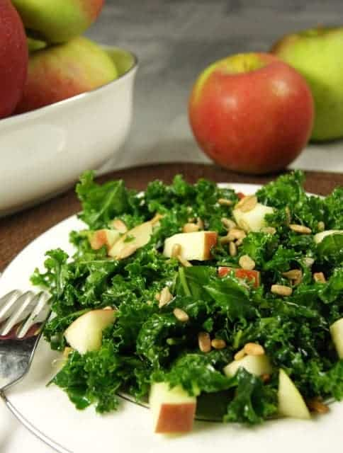 Kale Apple salad with Honey - Kitchen is my Playground