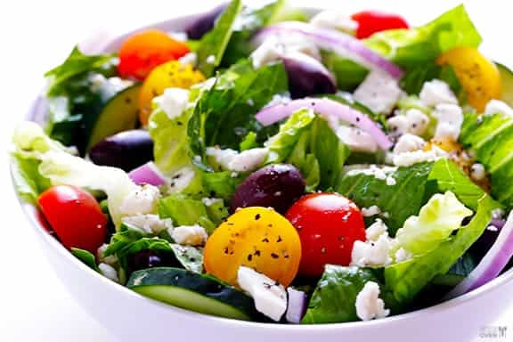 Salad - Greek-Salad-with-Garlic-Lemon-Vinaigrette-1