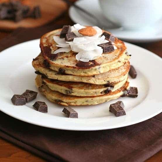 Gluten Free Almond Joy Pancakes