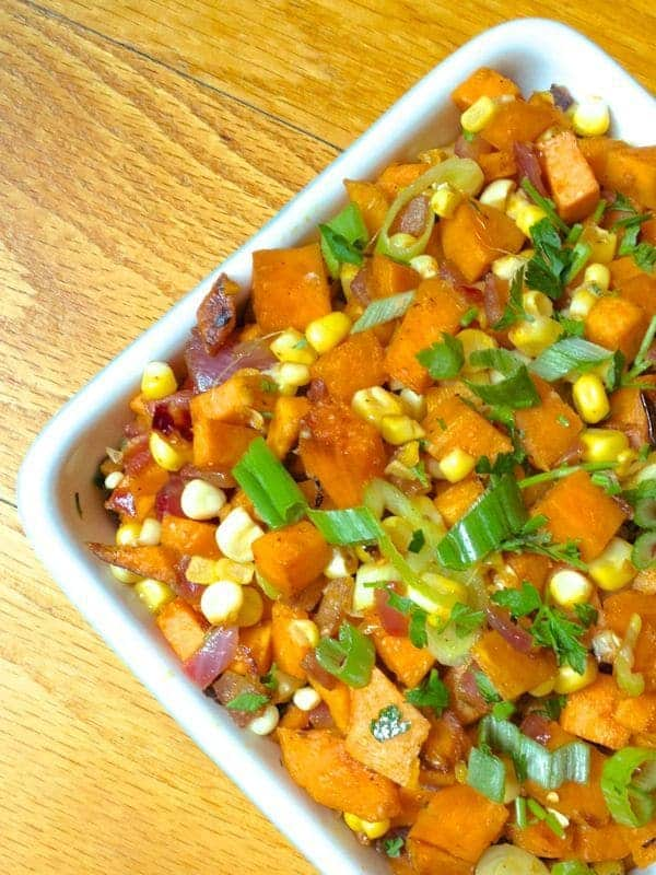 Smoky Sweet Potato and Corn Hash - The Lemon Bowl