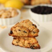 Whole Wheat Ginger Lemon Blueberry Scones - The Lemon Bowl