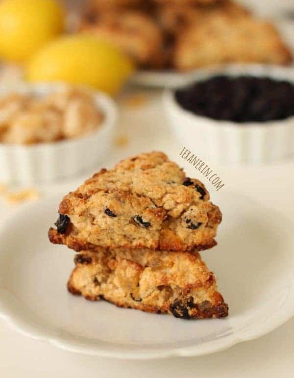 Whole Wheat Ginger Lemon Blueberry Scones - The Lemon Bowl