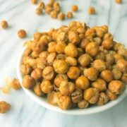 Crispy Baked Chickpeas with Truffle Salt