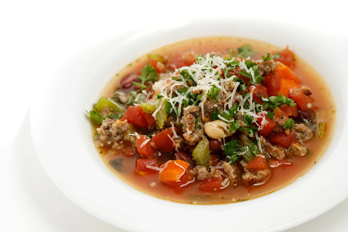 Italian Sausage Soup with Cheese