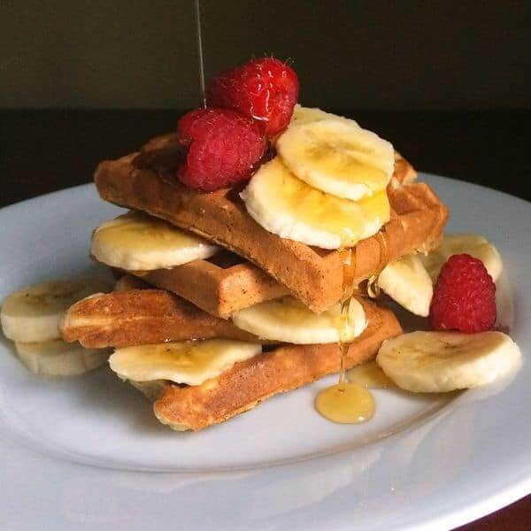 Whole Grain Banana Waffles by The Lemon Bowl