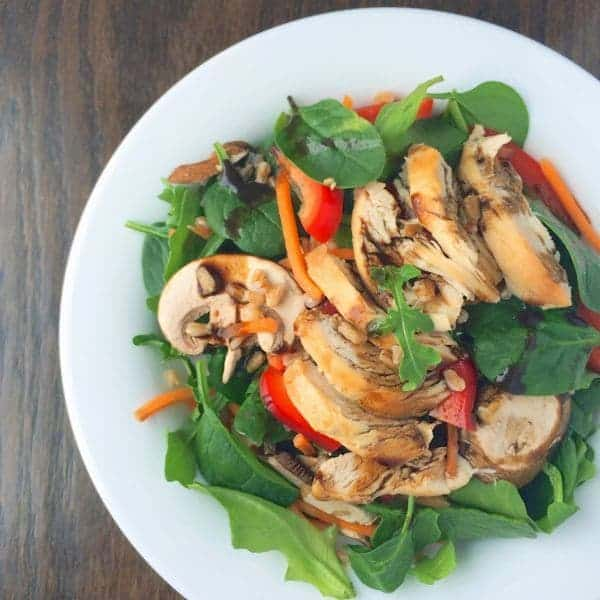 Spinach Power Salad with Chicken Farro - The Lemon Bowl