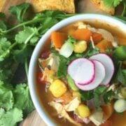 Chicken Posole Soup - The Lemon Bowl