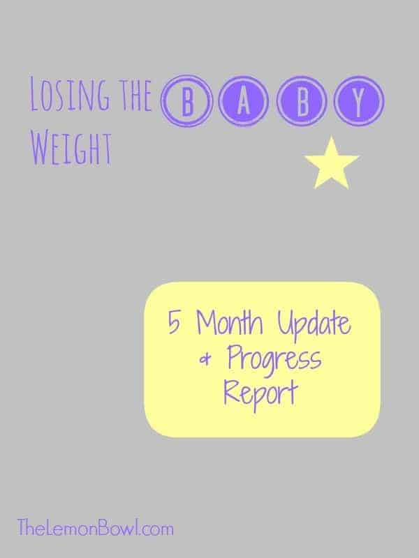 Losing the Baby Weight - Update and Status Report - The Lemon Bowl