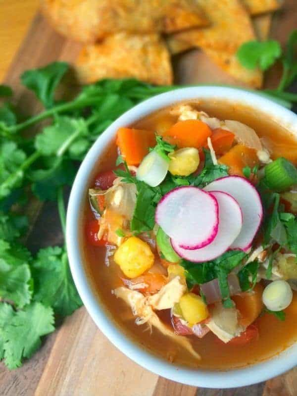 Mexican Chicken Posole Soup Recipe by The Lemon Bowl