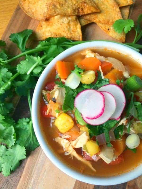 Mexican Chicken Posole Soup - The Lemon Bowl
