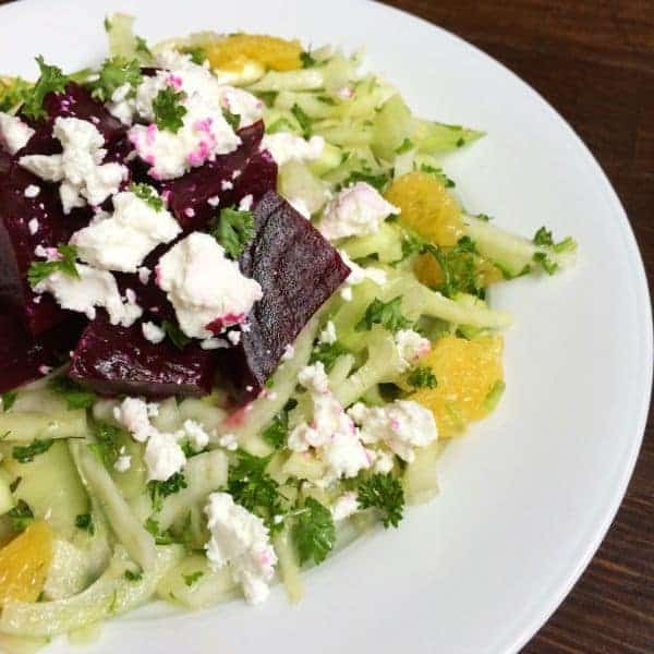 Roasted Beets with Fennel Slaw - The Lemon Bowl
