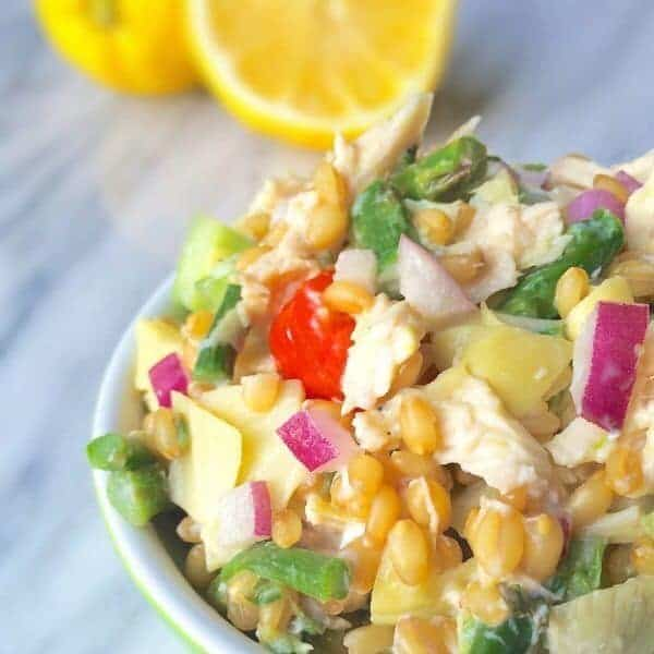 Chicken Wheat Berry Salad - The Lemon Bowl