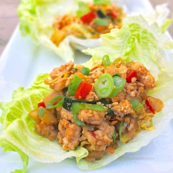 Chinese Chicken Lettuce Wraps - The Lemon Bowl