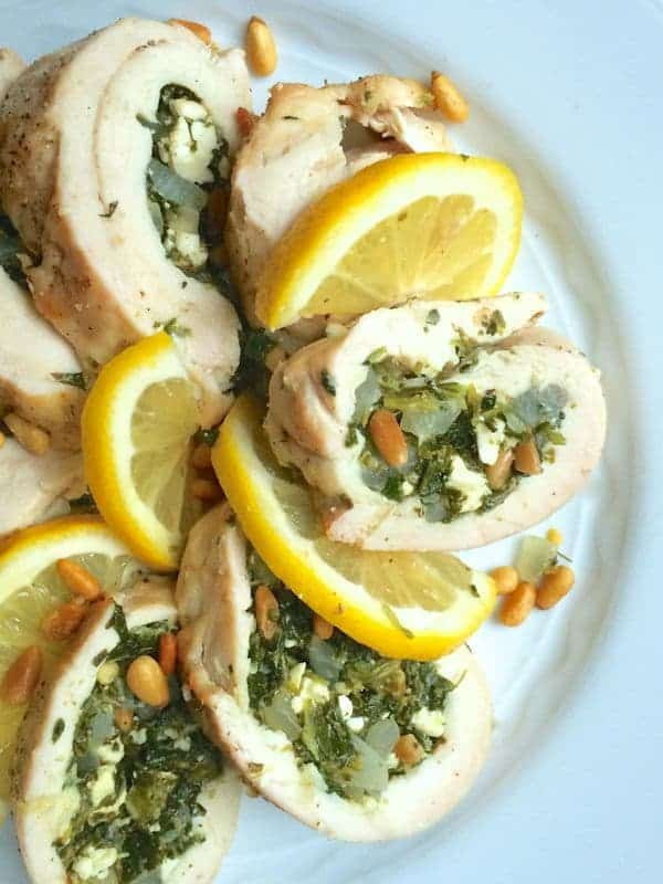 Greek Stuffed Chicken Breasts with Feta and Pine Nuts - The Lemon Bowl