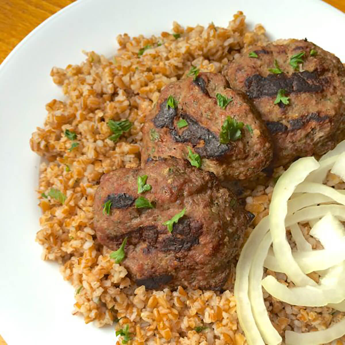 Lebanese Beef Kafta Patties