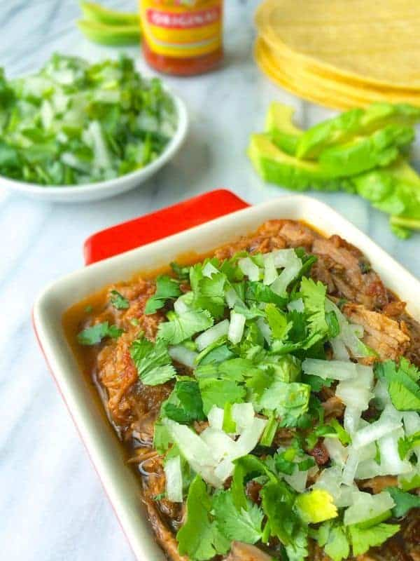 Shredded Beef Tacos with Cilantro and Onions - The Lemon Bowl