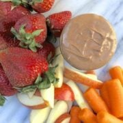 Choc Peanut Butter Fruit Dip - The Lemon Bowl