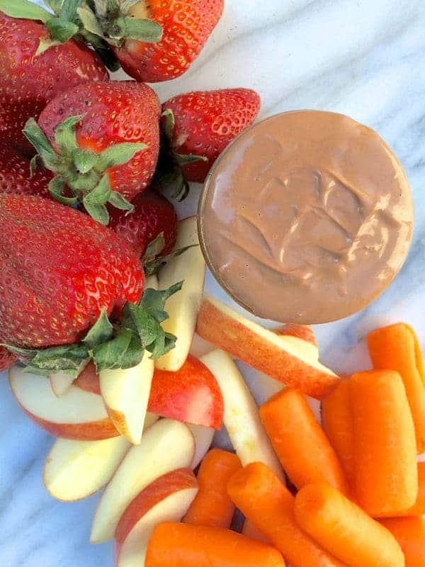 Chocolate Peanut Butter Fruit Dip - The Lemon Bowl