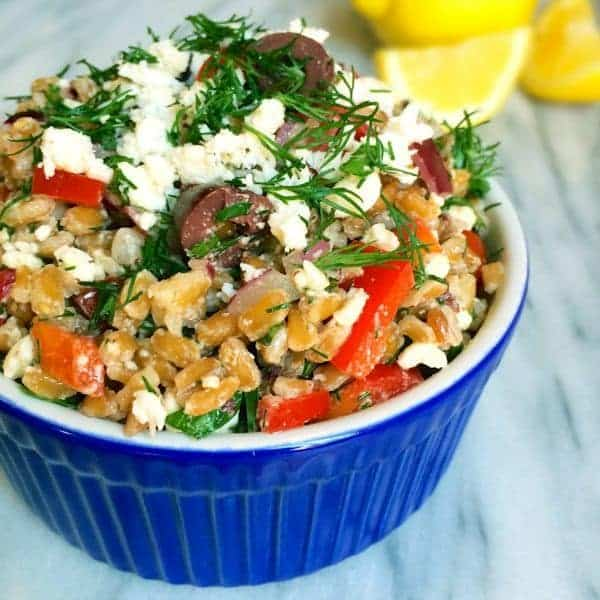 Greek Farro Salad - The Lemon Bowl