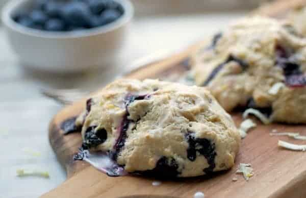 Light Lemon Blueberry Scones