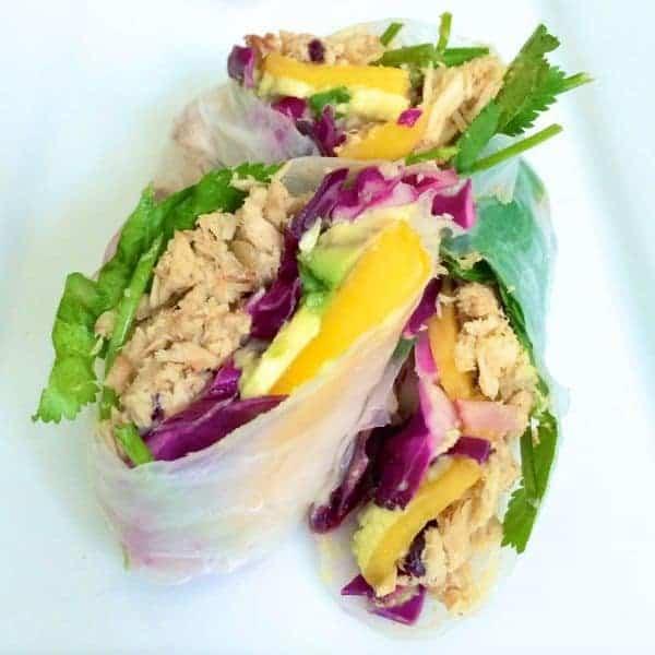Pulled Pork Fresh Rolls with Mango and Avocado - The Lemon Bowl