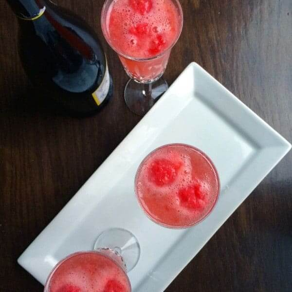 Raspberry Ginger Bellini by The Lemon Bowl