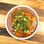 Vegetable Bison Soup - The Lemon Bowl