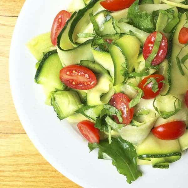 Zucchini Cucumber Ribbon Salad with Basil Lemon Vinaigrette - The Lemon Bowl
