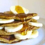 PB Banana Greek Yogurt Pancakes - The Lemon Bowl