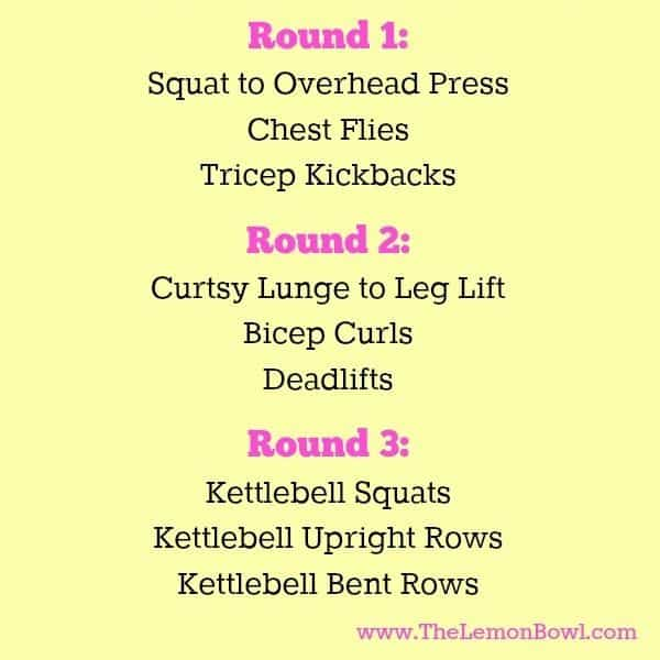 Weight Lifting Workout Routine - The Lemon Bowl