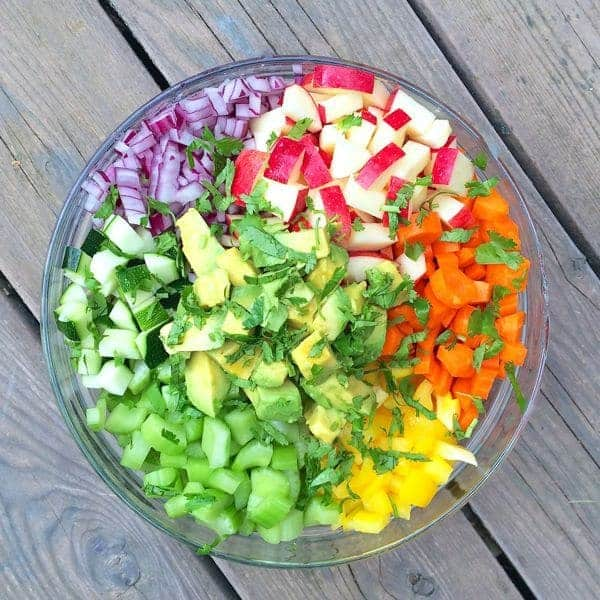 Rainbow Chop Salad with Avocados and Apples - The Lemon Bowl