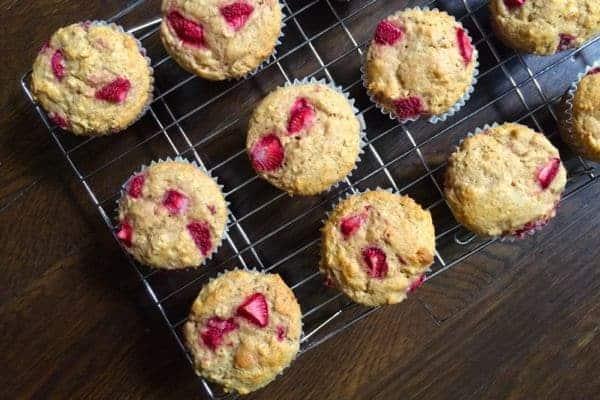 Strawberry Oat Yogurt Muffins - The Lemon Bowl