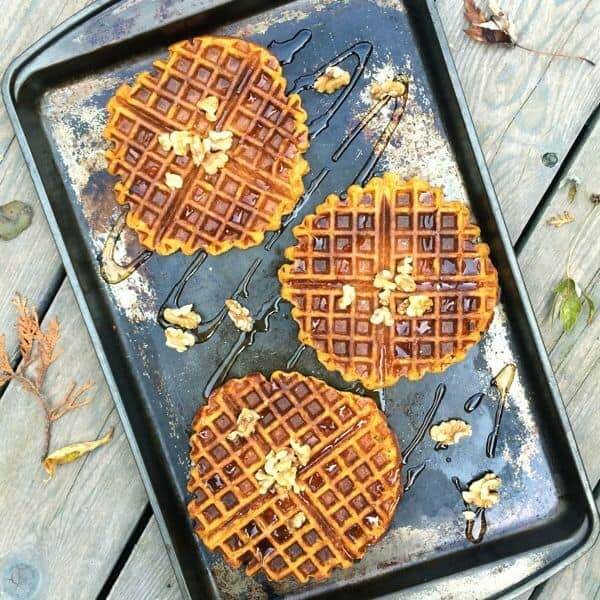 Whole Wheat Pumpkin Waffles by The Lemon Bowl