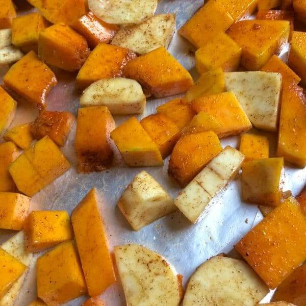 Roasted Butternut and Parsnips
