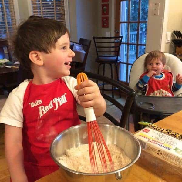 Asher Mixing Pancakes