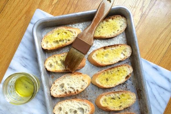 Brushing Olive Oil - The Lemon BOwl