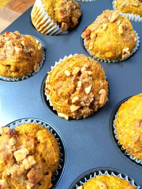 Whole Wheat Pumpkin Apple Muffins - The Lemon Bowl