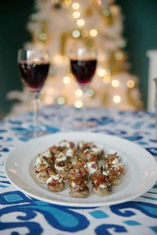 Stuffed Mushrooms with Bacon and Feta by The Lemon Bowl