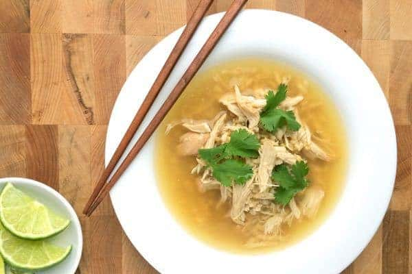 Slow Cooker Asian Chicken and Rice Soup - The Lemon Bowl