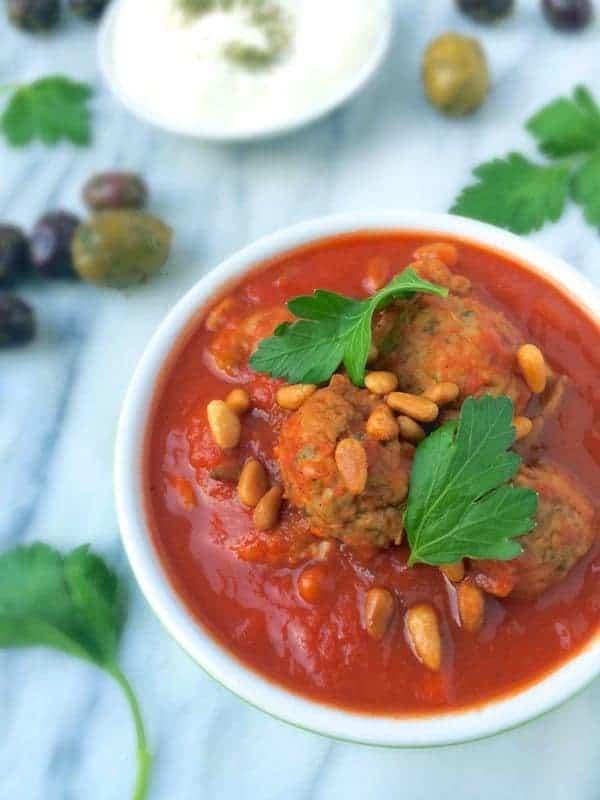 Slow Cooker Lebanese Meatballs (Gluten Free) - The Lemon Bowl