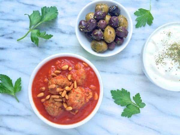 Slow Cooker Lebanese Meatballs {Gluten Free} - The Lemon Bowl