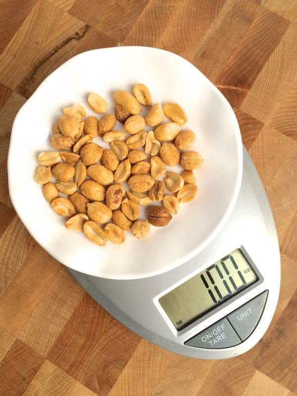Weighing Nuts - The Lemon Bowl