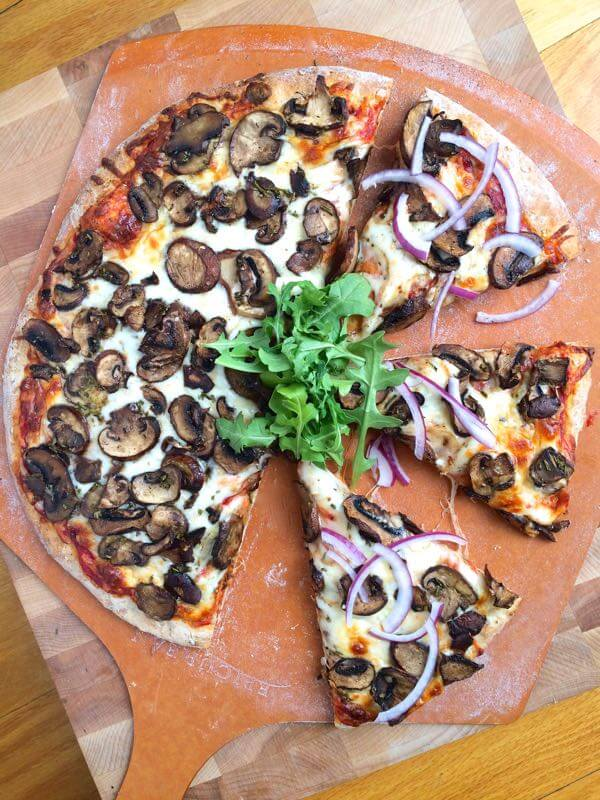 Garlic Rosemary Roasted Mushroom Pizza - The Lemon Bowl