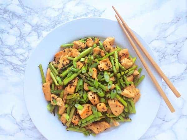 Chicken and Asparagus Stir Fry - The Lemon Bowl